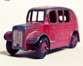 Classic Red (5x5) -  Fine Art Photograph IN STOCK. Classic vintage rusty red dinky car.