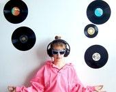 NEON TiME MACHINE 80s Neon Pink Denim Hoodie/Jacket, Unisex Style S/M/L