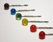 Lampworked Gum Drop Hairpins