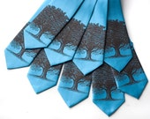 9 Groomsmen silkscreen neckties, wedding group discount, matching microfiber ties.