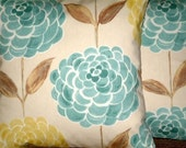 "2 x 16""  Modern Contemporary Duck Egg Blue Brown Designer Retro Cotton Pillow Cases,Cushion Covers,Pillows,Pillow Slips"