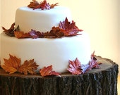 Edible Sugar Fall Leaves  1 dozen