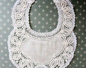 Antique Lace Bib- Baby- Cutwork Lace