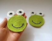Frog coasters (set of 2) all natural - eco friendly