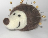 hedgehog pin cushion - needle felted