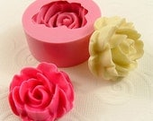 Large Rose Cabochon Flexible Mold/Mould (32mm) for Crafts, Jewelry, Scrapbooking  (wax, soap, resin, paper,  pmc, polymer clay) (186)