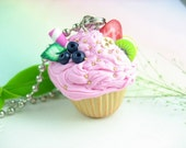 Fruity Cupcake Necklace