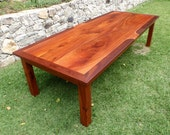Rustic Dining Table of Solid Australian Red Cedar with Jarrah Edging