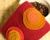Wool Coffee Cozy-ThE DoTtY cOzY-CuFf- eCo FriEndLy WoOL cOLLeCtiOn