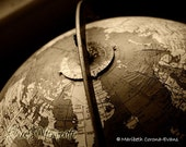 Grandpa's Vintage Globe, 8x10 Fine Art Photograph