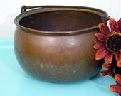 Copper POT Very Vintage....Great patina...Witches pot