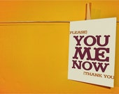 please You Me Now thanks Card