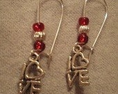 What's Love Got to do With It -- dangle earrings, Hand made