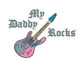 Personalized Girl Daddy Rocks Onesie/T-Shirt