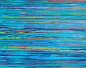 WATER Painting Original Impasto Acrylic Lake Ocean Beach Sea Waterfront Seascape Modern