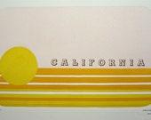 California Linocut letterpress Print