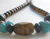 Tiger and Turquoise Necklace