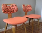 Peach Flower Chairs