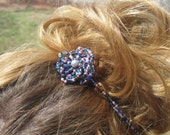 Beaded Purple Headband It can also be worn in an updo and around your neck as a necklace