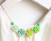 Garden Greens Floral Necklace