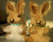 Light Brown Plush Furry Baby Rabbits