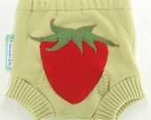Recycled Wool Soaker Diaper Cover - STRAWBERRY SMOOTHIE- X-Small Newborn