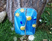 Stained Glass Faerie Door - Yellow Daisies - Fritos314