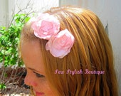 Womens Headband, Pink,  Lolipop Flower Headband. Fits all sizes Women to Babies, free shipping