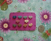 Folk Art Heart Buttons, Sewing Scrapbooking Craft Embelishment