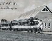 Norfolk Southern Meets the Ocean View Train Station 8 x 10 Fine Art Print Signed by Alison Thompson