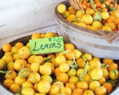 30% Off Sale Food photography  Lemons Fresh fruit citrus yellow outdoor market food lovers art for kitchen   - 8x10  - Fine Art Photograph