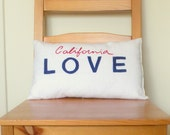 California Love License Plate Pillow