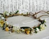 Country Wedding Flower Crown Woodland Daisy Headwreath Boho