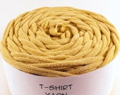Cotton Tshirt Yarn, Creamy Yellow, 32 yards, 6 wpi
