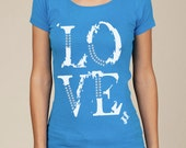 LOVE Eco Scoop Neck Tee in Blue