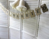 Just Married WEDDING Banner - wedding photo prop - Rustic Elegance