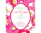 Bridal Shower Invitations for the Lilly Pulitzer lover