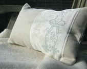 shabby chic pillow with floral print