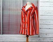 Mod Jacket Cardigan Red White and Blue Stripes
