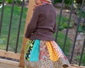 New fall collection - twirl panel patchwork skirt 2T - 5T