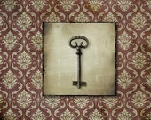 Antique Skeleton Key Moody Photography Fine Art Print 5x5