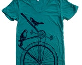 Womens SPARROW BIKE T Shirt S M L XL (14 Colors Available)