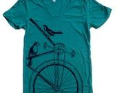Womens SPARROW BIKE T Shirt S M L XL (14 Colors Available)