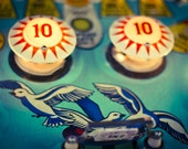 Pinball Arcade Photography, Nursery Decor, Gameroom - Number 10 (8x10) Fine Art Photograph