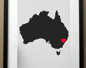 i heart sydney NSW 8 x 10 motivational inspirational digital print design art