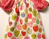 Schoolgirl Modern Peasant Top in Fall Apples