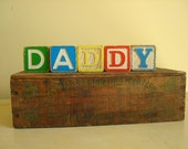 Daddy children's wooden blocks