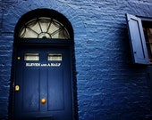 London Travel Photography: Blue Door - Eleven and a Half, London, England - 8x10 Print - PhotoLarks