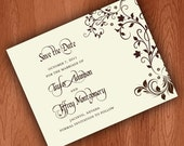 Vintage Save The Date Cards with Timeless Design
