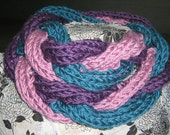 Scarf twisted cable hand knit chunky infinity loop scarf